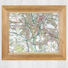 Any Postcode Map Framed