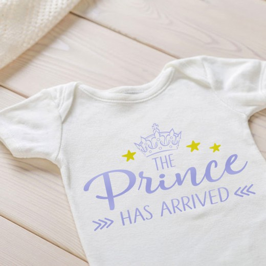 Hampers and Gifts to the UK - Send the The Prince Has Arrived Onesie