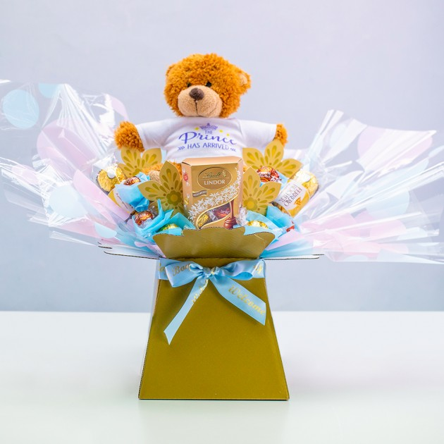 Hampers and Gifts to the UK - Send the The Prince Has Arrived Chocolate Bouquet