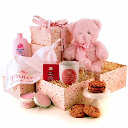 Hampers and Gifts to the UK - Send the The Princess Has Arrived Gift Tower