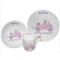 Hampers and Gifts to the UK - Send the Personalised Breakfast Set - Little Princess in Car