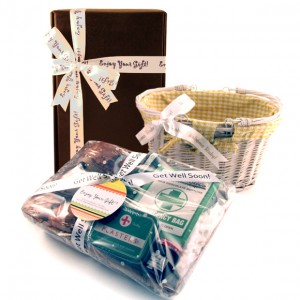 Hampers and Gifts to the UK - Send the Free Printed Ribbon