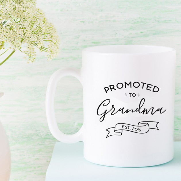 Hampers and Gifts to the UK - Send the Promoted to Grandma Mug