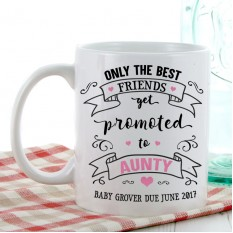 Hampers and Gifts to the UK - Send the Personalised Promoted to Aunty Gift Mug