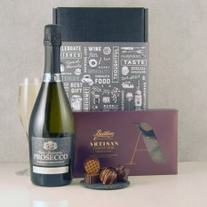 Hampers and Gifts to the UK - Send the Prosecco and Chocolates Duo