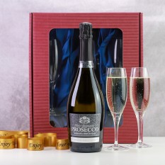 Hampers and Gifts to the UK - Send the Flutes and Prosecco Gift Set