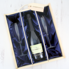 Hampers and Gifts to the UK - Send the Celebration Prosecco & Flutes Luxury Gift Box