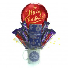Hampers and Gifts to the UK - Send the A Merry Christmas Dairy Milk Mug Bouquet