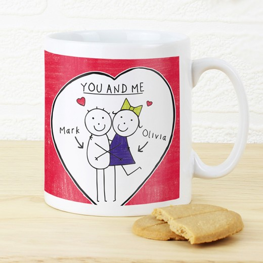 Hampers and Gifts to the UK - Send the Personalised Purple Ronnie Couples Mug