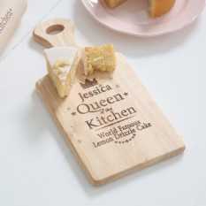 Hampers and Gifts to the UK - Send the Queen of the Kitchen Large Paddle Chopping Board