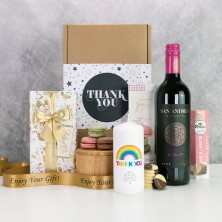 Personalised Rainbow Candle Thank You Hamper