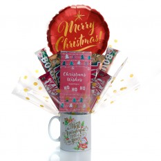 Hampers and Gifts to the UK - Send the A Most Wonderful Time of the Year Mug Bouquet