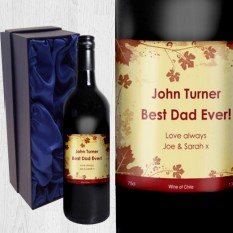 Hampers and Gifts to the UK - Send the Ivy Label Red Wine Personalised