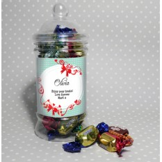 Hampers and Gifts to the UK - Send the Personalised Sweet Treats Red Ribbon