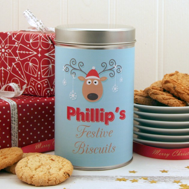 Hampers and Gifts to the UK - Send the * OUT OF STOCK * - Christmas Biscuits Festive Reindeer
