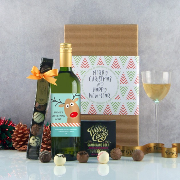 Hampers and Gifts to the UK - Send the Christmas Wine Gifts - Cute Reindeer