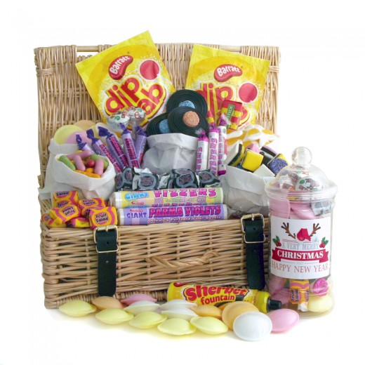 Hampers and Gifts to the UK - Send the Merry Christmas Retro Sweets Traditional Hamper
