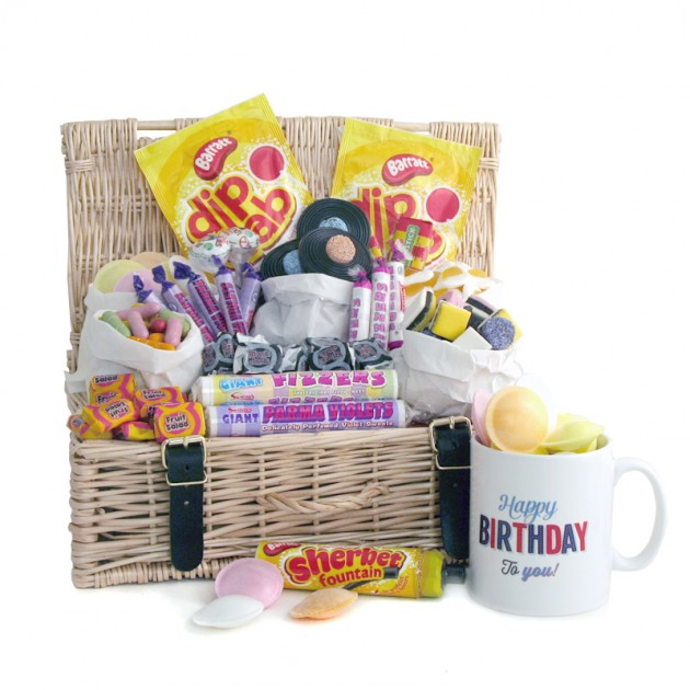 Hampers and Gifts to the UK - Send the Happy Birthday To You Sweet Hamper with Mug