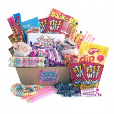 Hampers and Gifts to the UK - Send the Retro Sweets Hamper Classic - Birthday Edition