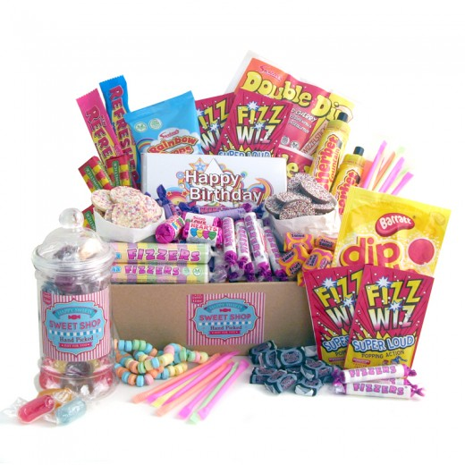 Hampers and Gifts to the UK - Send the Birthday Nostalgic Sweet Shop Hamper