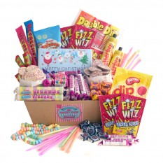 Hampers and Gifts to the UK - Send the Ho Ho Ho Retro Sweet Christmas Hamper