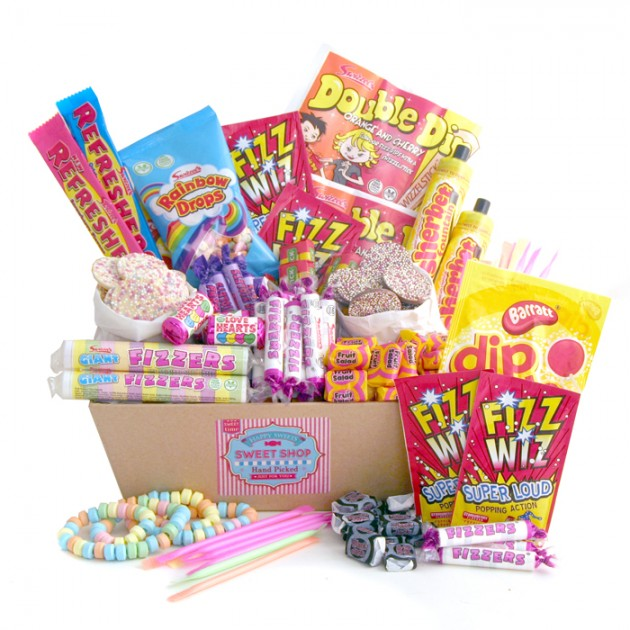 Hampers and Gifts to the UK - Send the Retro Sweets Hamper Classic Tray