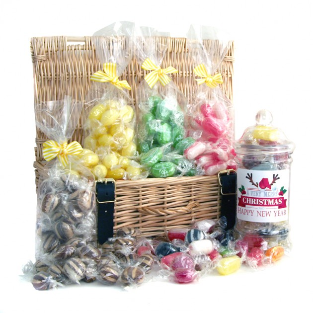 Hampers and Gifts to the UK - Send the Merry Christmas Luxury Sweet Hamper