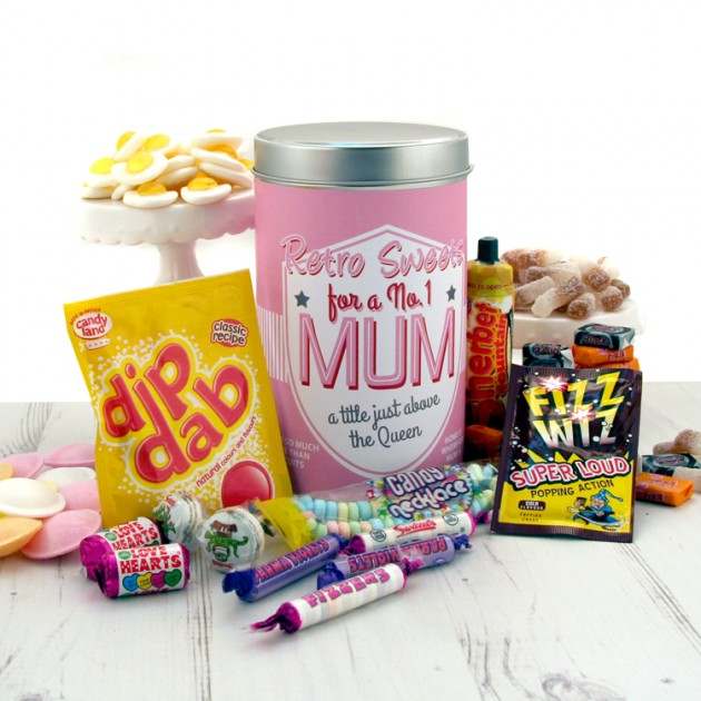 Hampers and Gifts to the UK - Send the Retro Sweets for a No.1 Mum