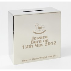 Hampers and Gifts to the UK - Send the Engraved Rocking Horse Money Box