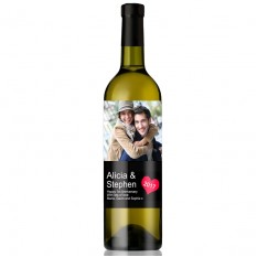 Hampers and Gifts to the UK - Send the  Personalised Photo Feature Romantic Wine Gift