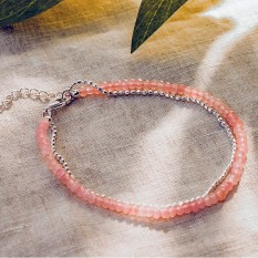Hampers and Gifts to the UK - Send the Rose Quartz and Silver Bead Bracelet