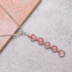 Hampers and Gifts to the UK - Send the Cherry Quartz Vitality Necklace