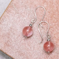 Hampers and Gifts to the UK - Send the Cherry Quartz Drop Earrings
