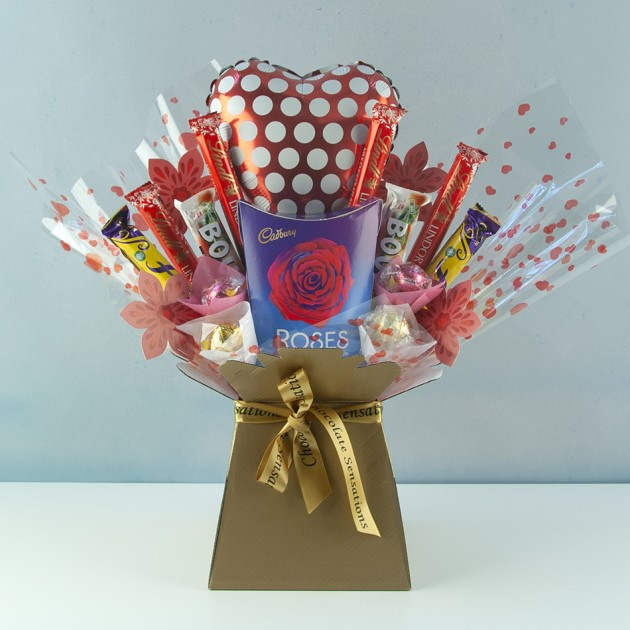 Hampers and Gifts to the UK - Send the Cadbury Roses Chocolate Bouquet