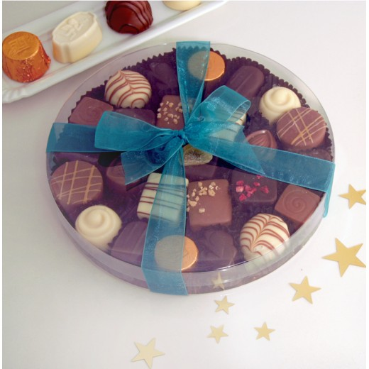 Hampers and Gifts to the UK - Send the Chocolate Assortment - Large Round Gift Box