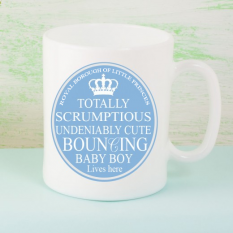 Hampers and Gifts to the UK - Send the Beautiful Baby Boy Mug