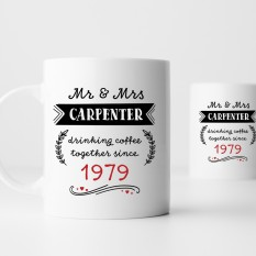 Hampers and Gifts to the UK - Send the Personalised Anniversary Mug Set
