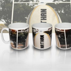 Hampers and Gifts to the UK - Send the Personalised Rugby Gift Mug