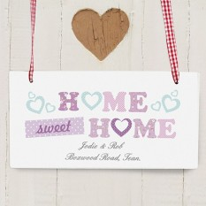 Hampers and Gifts to the UK - Send the Home Sweet Home Floral Personalised Sign