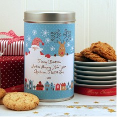 Hampers and Gifts to the UK - Send the Christmas Cookies Santa and Rudolph