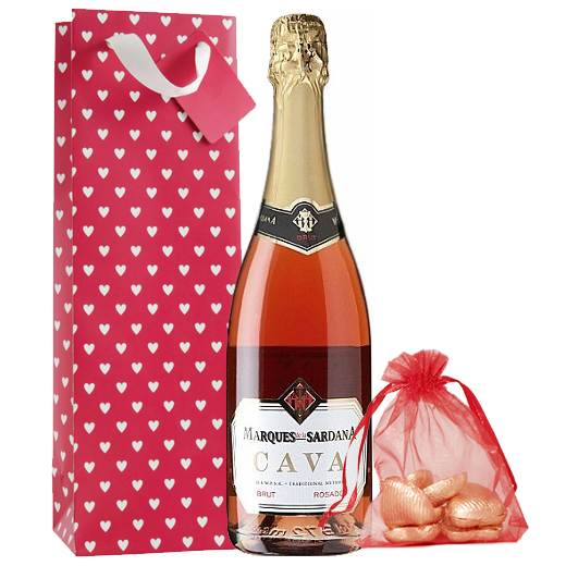 Hampers and Gifts to the UK - Send the Pink Bubbly and Chocolates