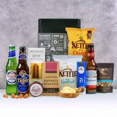 Hampers and Gifts to the UK - Send the Oh So...Scrummy Beer and Snacks Hamper