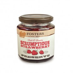 Hampers and Gifts to the UK - Send the Fosters Scrumptious Strawberry Preserve