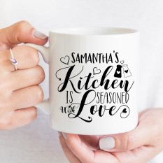 Hampers and Gifts to the UK - Send the Personalised Seasoned With Love Mug