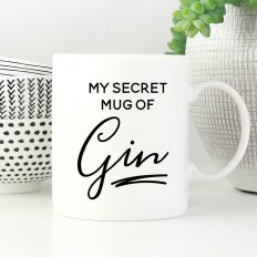 Hampers and Gifts to the UK - Send the My Secret Gin Mug