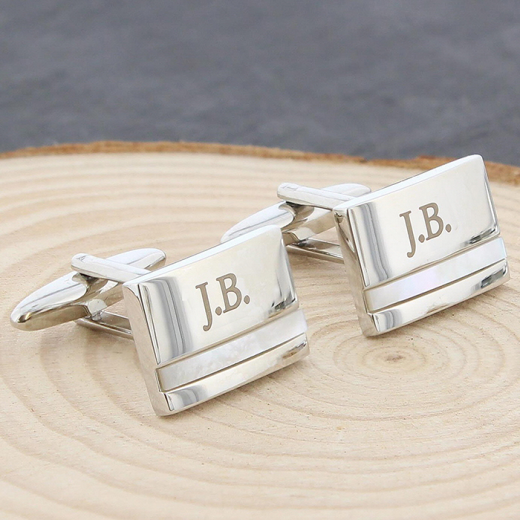 Hampers and Gifts to the UK - Send the Engraved Mother of Pearl Cufflinks