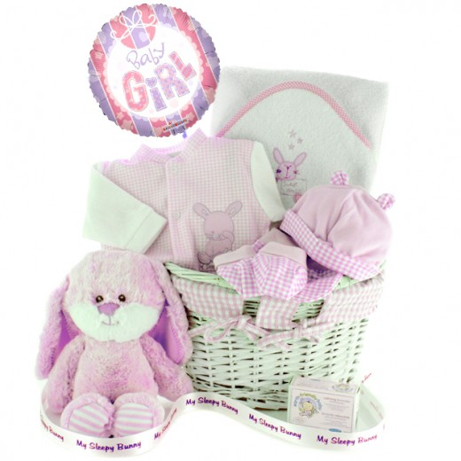 Hampers and Gifts to the UK - Send the My Sleep Bunny Baby Girl Gift Hamper