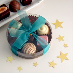 Hampers and Gifts to the UK - Send the Chocolate Assortment - Small Round Gift Box