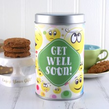 Get Well Soon Smiley Faces Cookie Tin