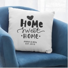 Hampers and Gifts to the UK - Send the Personalised New Home Cushion
